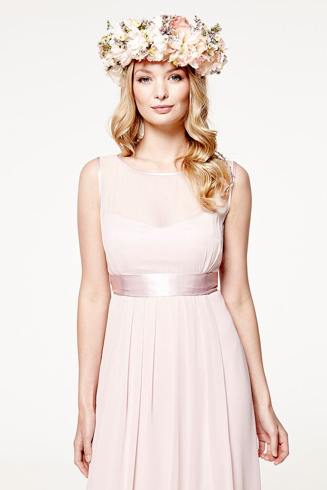 Charlotte Floaty Blossom Pink Bridesmaids Dress (Front zoom)