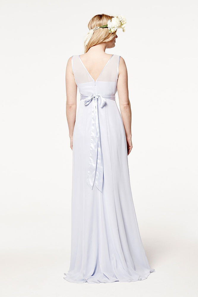 Charlotte Floaty Cloud Blue Bridesmaids Dress (Back)
