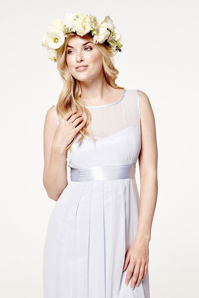 Charlotte Floaty Cloud Blue Bridesmaids Dress (Front zoom)