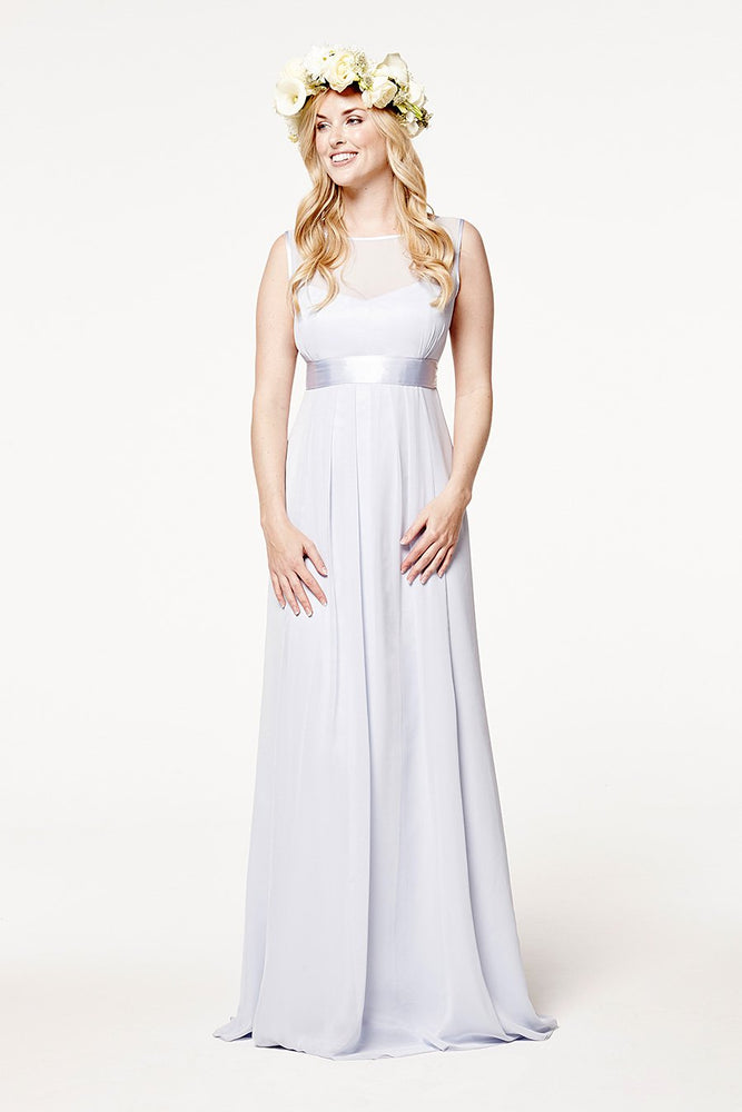 Charlotte Floaty Cloud Blue Bridesmaids Dress (Front)
