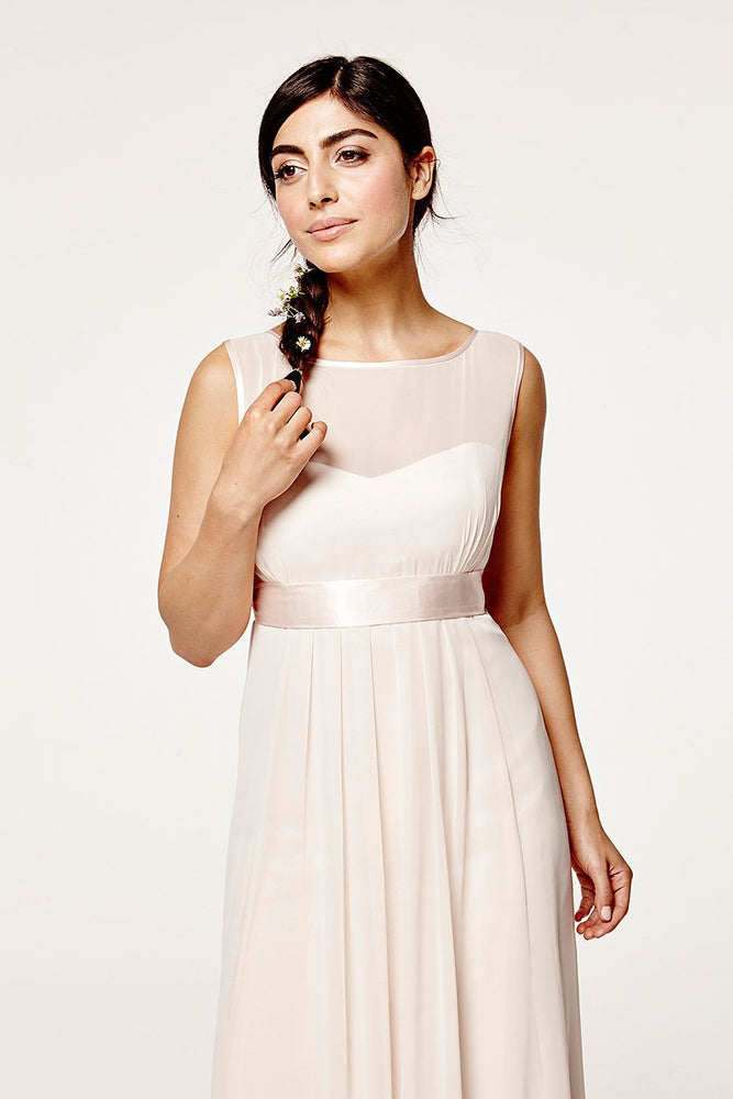 Charlotte Floaty Cream Soda Bridesmaids Dress (Front zoom)