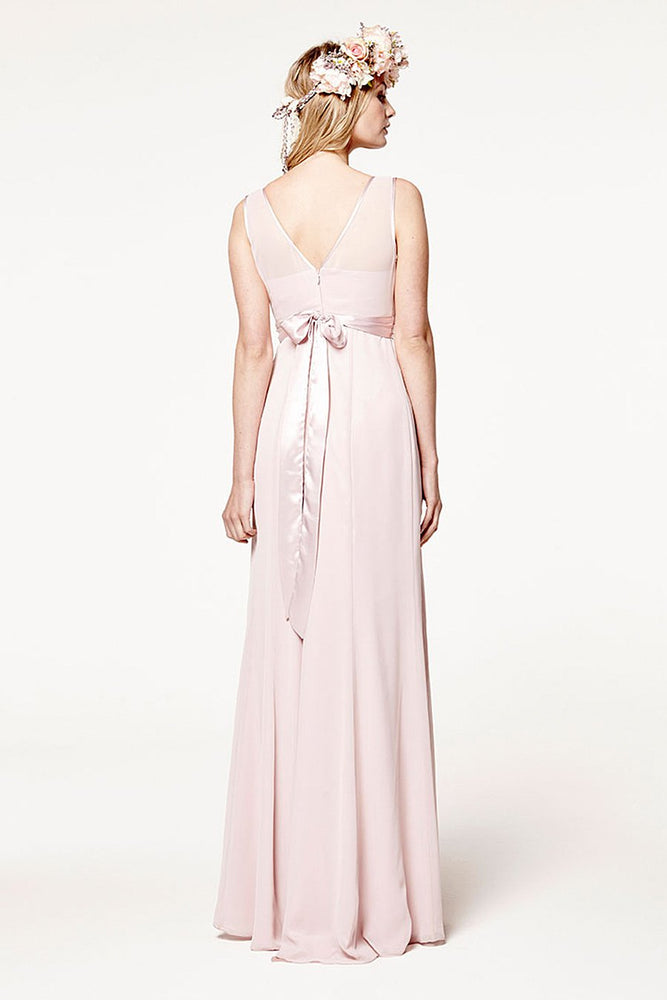 Charlotte Floaty Just Peachy Bridesmaids Dress (Front Zoom)
