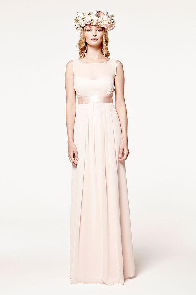 Charlotte Floaty Just Peachy Bridesmaids Dress (Front)