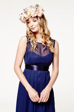 Charlotte Floaty Midnight Blue Bridesmaids Dress (Front zoom)