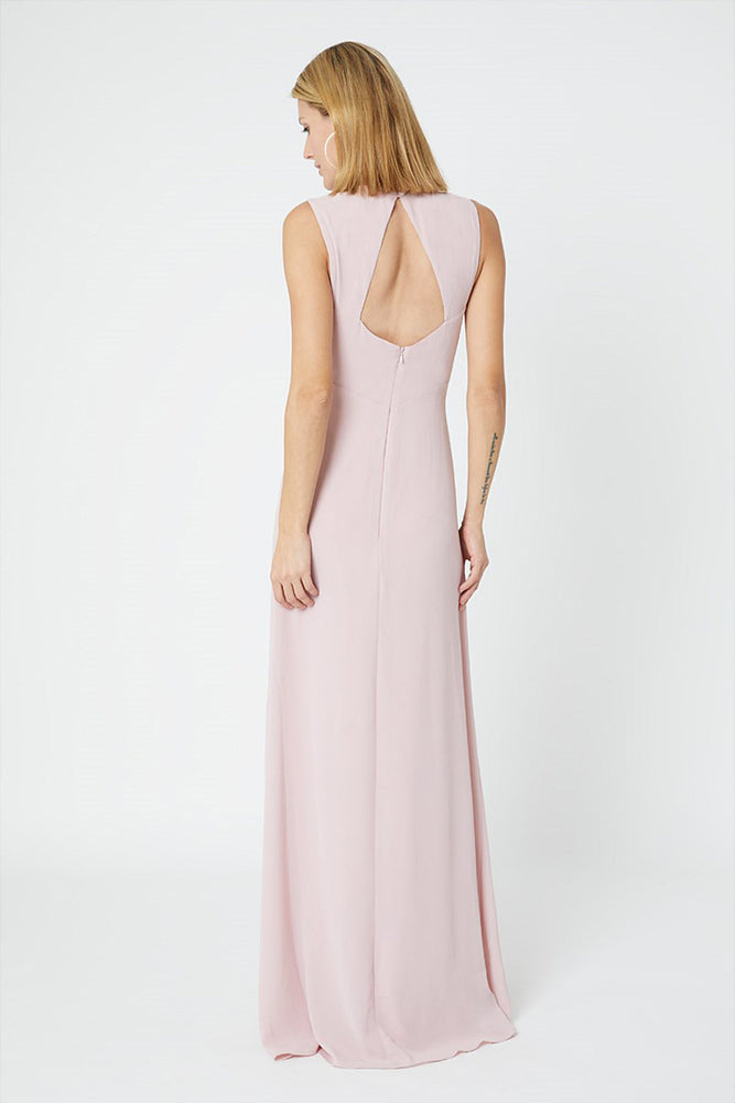 Cindy Blossom Pink Bridesmaids Dress (Back)