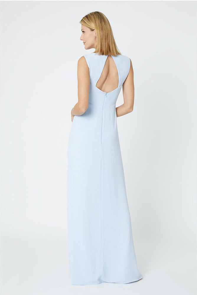 Cindy Cloud Blue Bridesmaids Dress (Front Zoom)