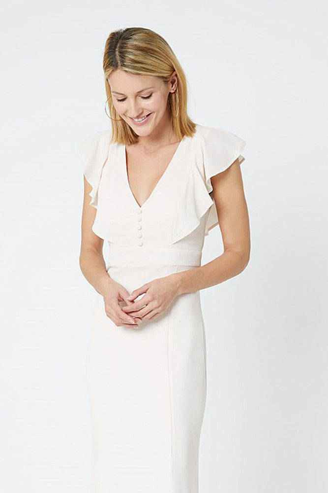 Elle Cream Soda Occasion Dress (Front zoom)