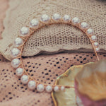 Faux Pearl Graduated Cream Headband (Lifestyle)