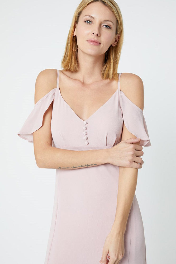 Gigi Blossom Pink Occasion Dress (Front zoom)