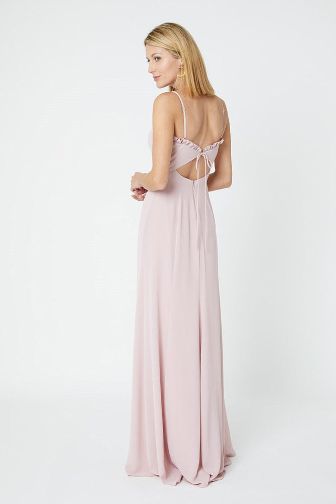 Giselle Blossom Pink Bridesmaids Dress (Back Zoom)