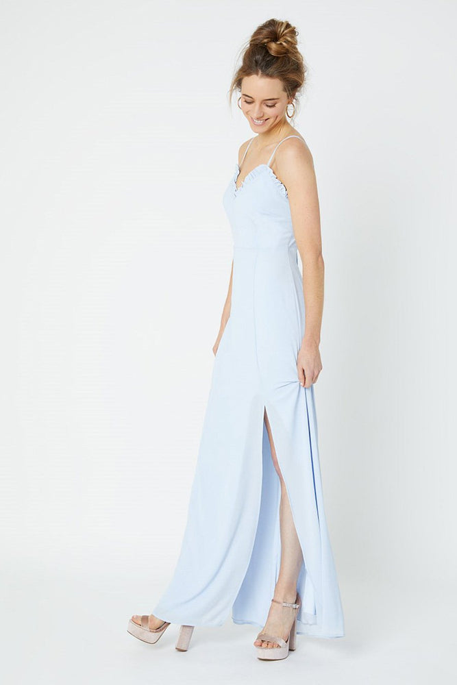 Giselle Cloud Blue Bridesmaids Dress (Front)