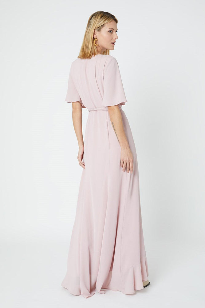 Heidi Blossom Pink Occasion Dress (Back)