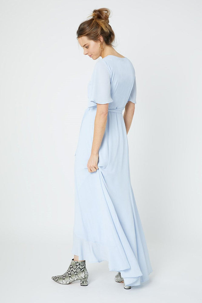 Heidi Cloud Blue Occasion Dress (Back)