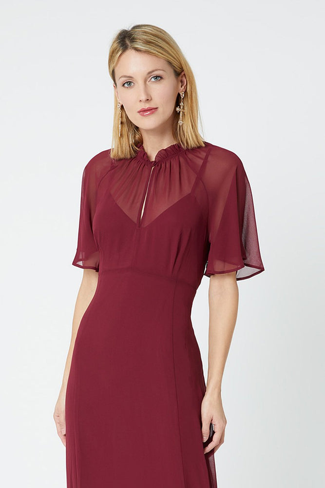 Holly Burgundy Red Occasion Dress (Front zoom)