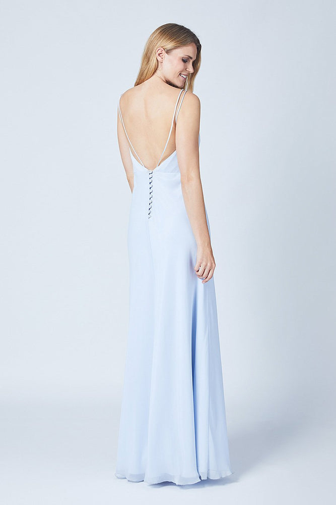 Imperial Cloud Blue Bridesmaids Dress (Back)