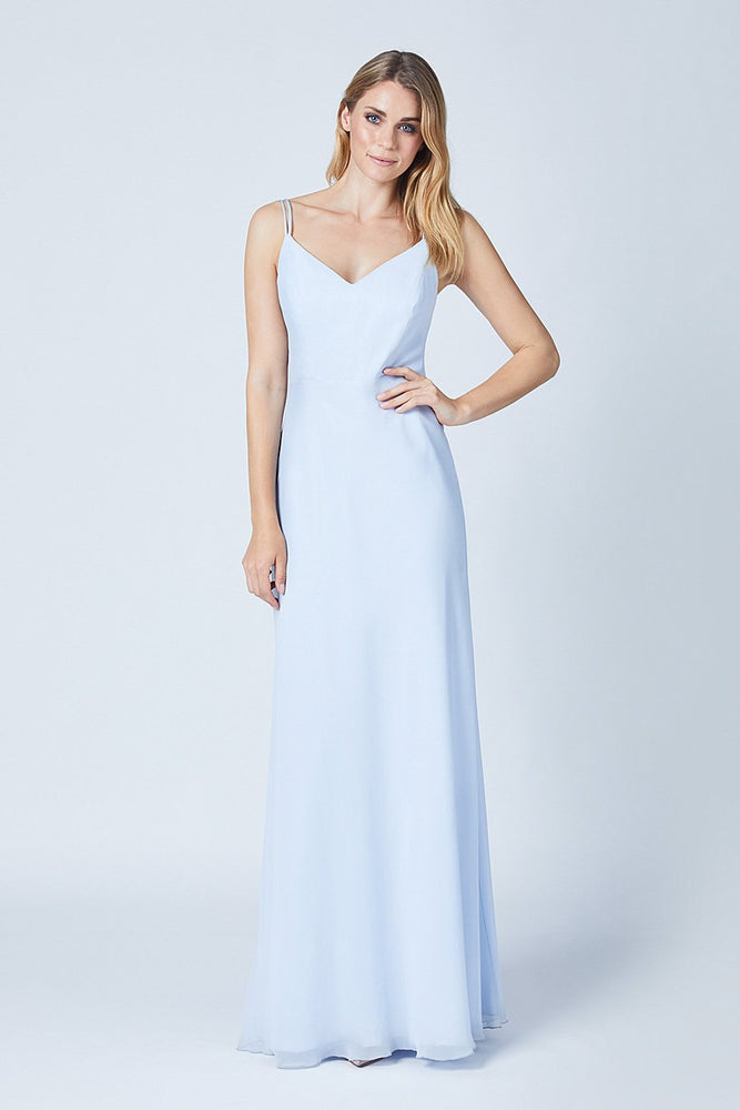 Imperial Cloud Blue Bridesmaids Dress (Front)