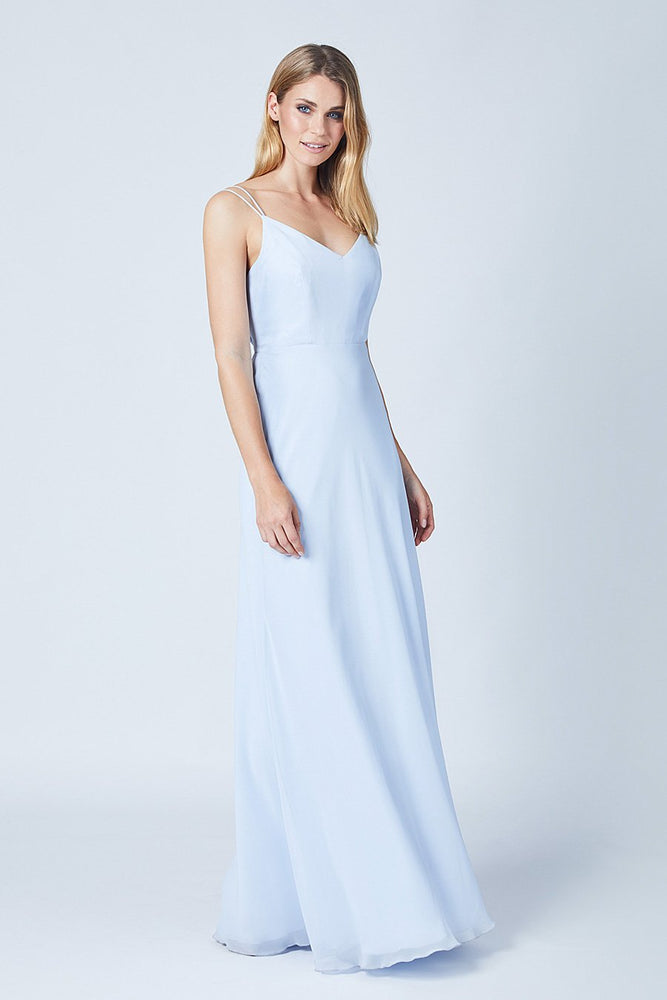Imperial Cloud Blue Bridesmaids Dress (Side)