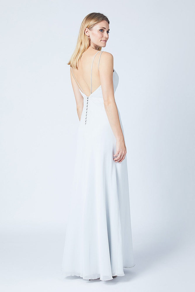 Imperial Dove Grey Bridesmaids Dress (Back)