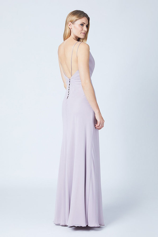 Imperial Frosted Fig Mauve Bridesmaids Dress (Side)