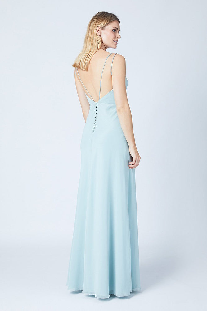 Imperial Misty Green Bridesmaids Dress (Back)