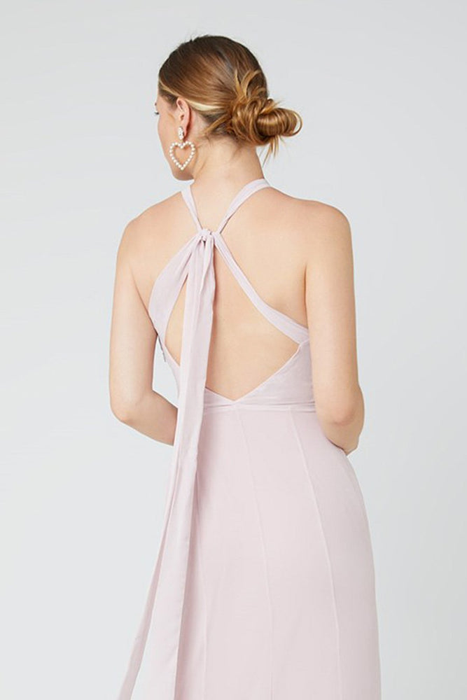 Ivy Blossom Pink Occasion Dress (Back zoom)