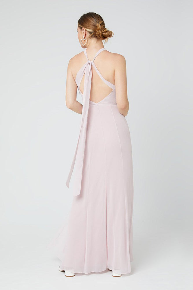 Ivy Blossom Pink Occasion Dress (Back)