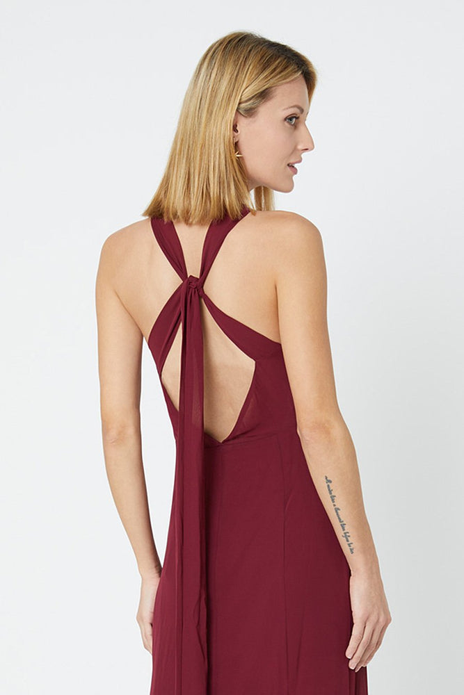 Ivy Burgundy Red Occasion Dress (Back zoom)