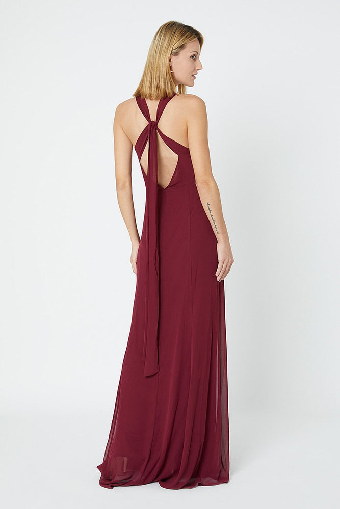 Ivy Burgundy Red Occasion Dress (Back)