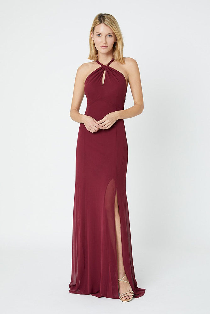 Ivy Burgundy Red Occasion Dress (Front)
