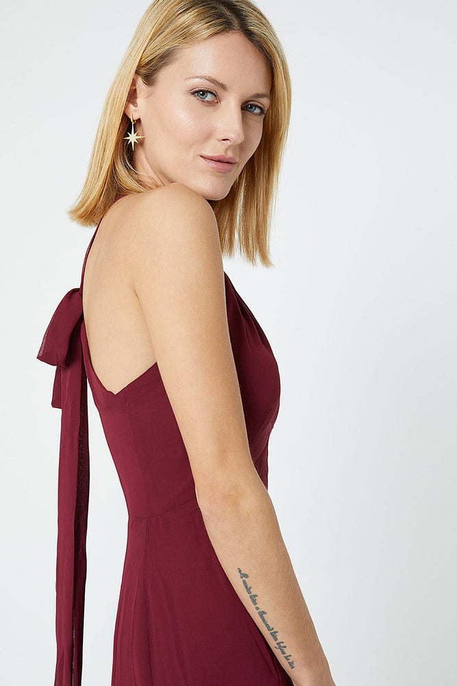 Ivy Burgundy Red Occasion Dress (Side zoom)