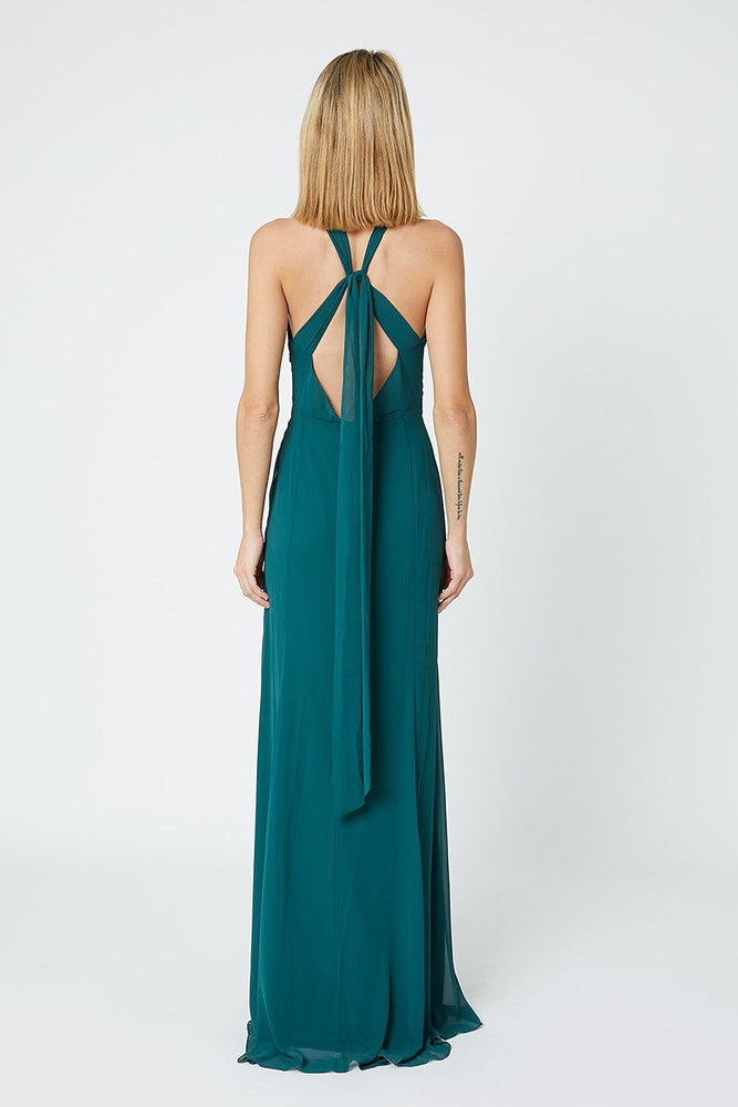 Ivy New Forest Green Occasion Dress (Back zoom)