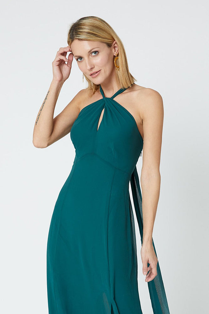 Ivy New Forest Green Occasion Dress (Front zoom)