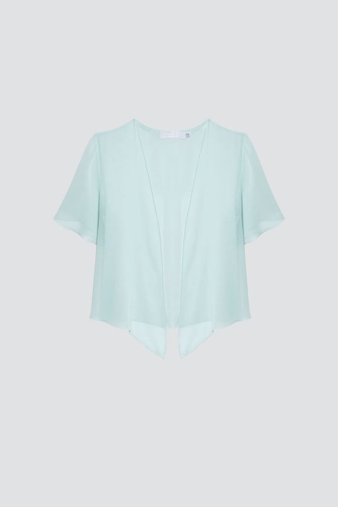 Short sleeve cover up Misty Green