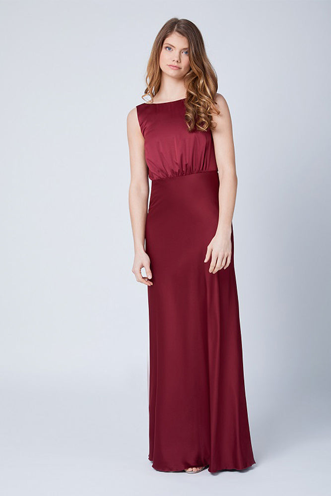 Luna Burgundy Red Dress