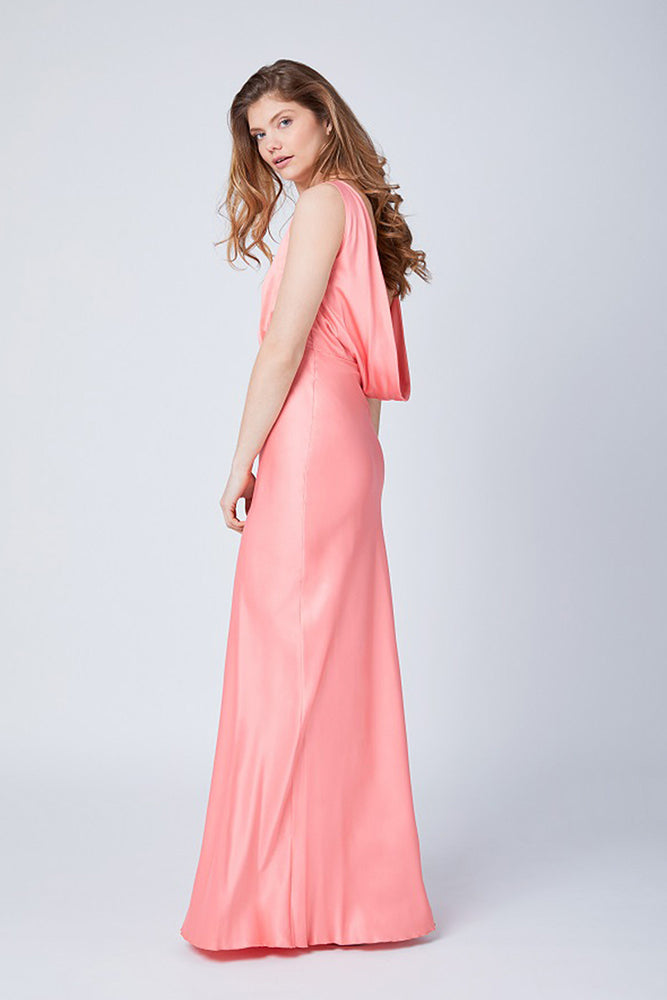 Luna Coral Peach Dress