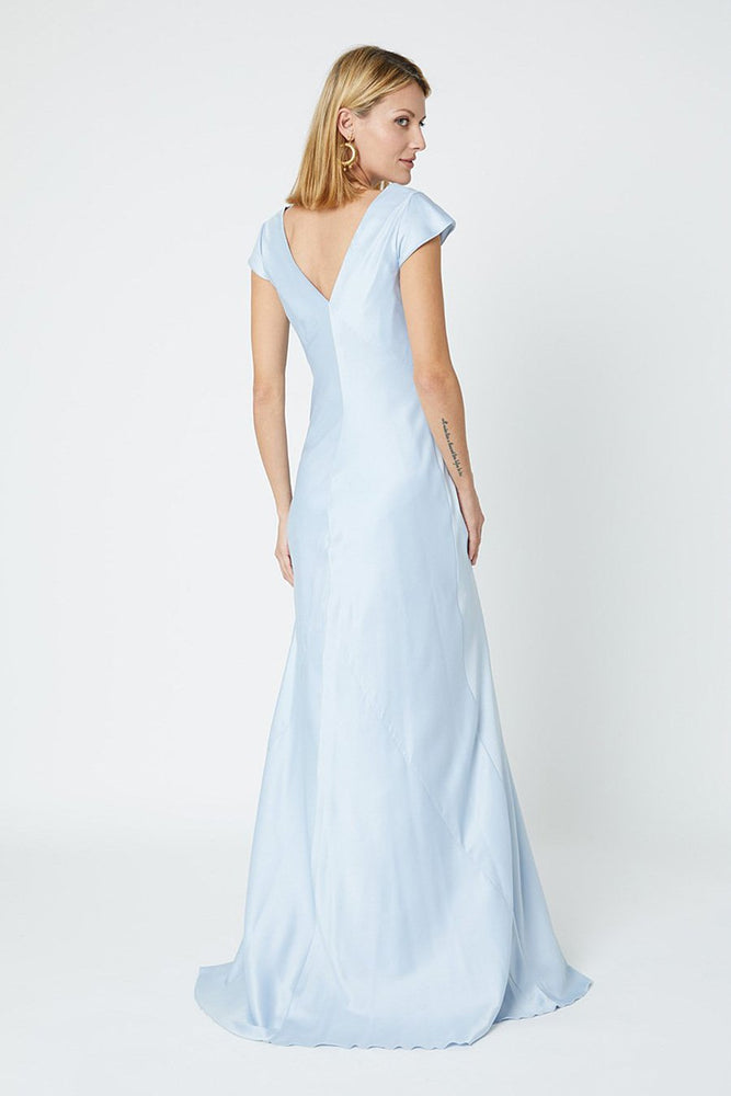 Nova Cloud Blue Bridesmaids Dress (Back)