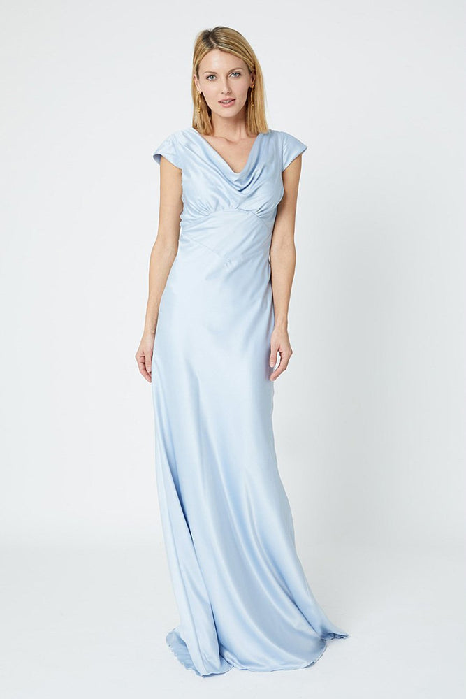 Nova Cloud Blue Bridesmaids Dress (Front)