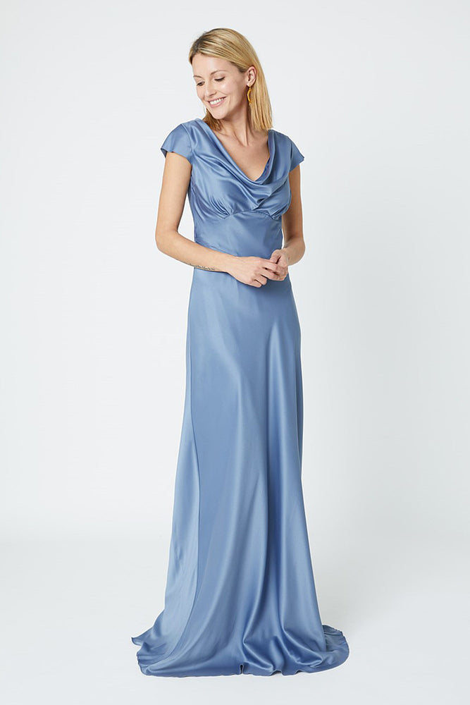 Nova Regatta Blue Bridesmaids Dress (Front)