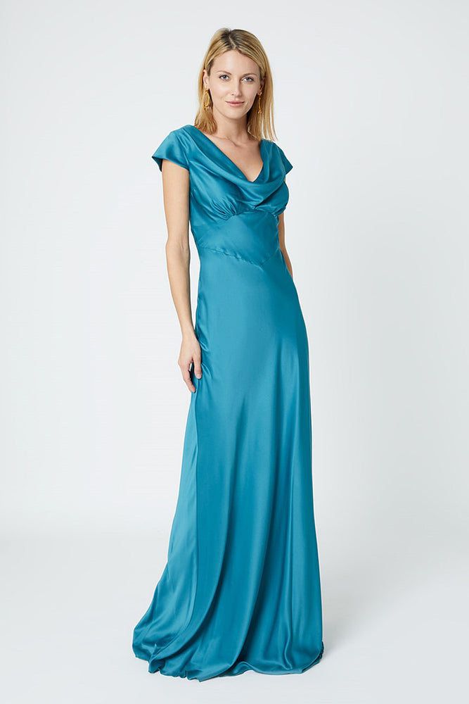 Nova Teal Bridesmaids Dress (Front)