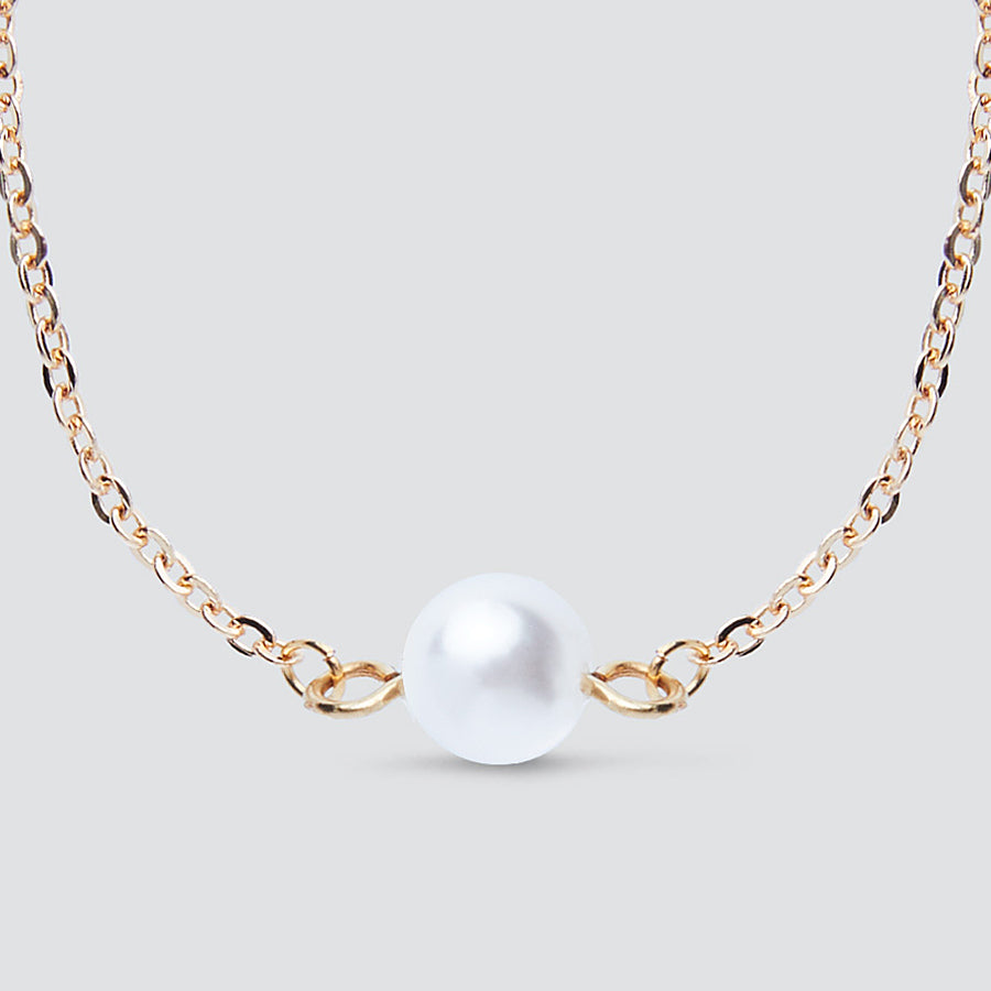Pearl detail Gold Chain Bracelet