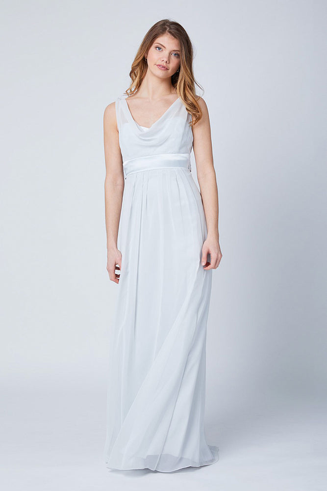 Penelope Floaty Dove Grey Bridesmaids Dress (Front)