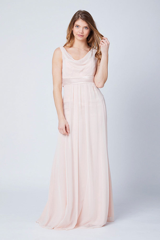 Penelope Floaty Just Peachy Bridesmaids Dress (Front)