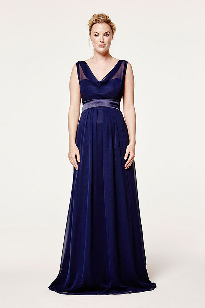Penelope Floaty Midnight Blue Dress
