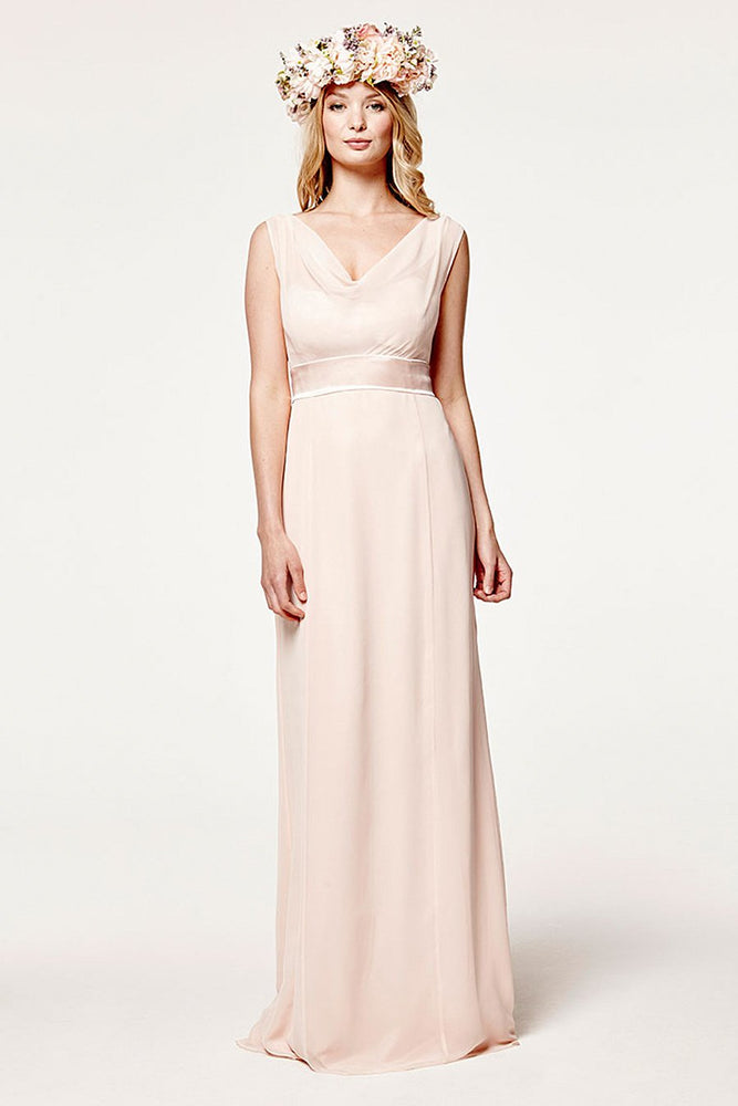 Penelope Fitted Just Peachy Bridesmaids Dress (Front)