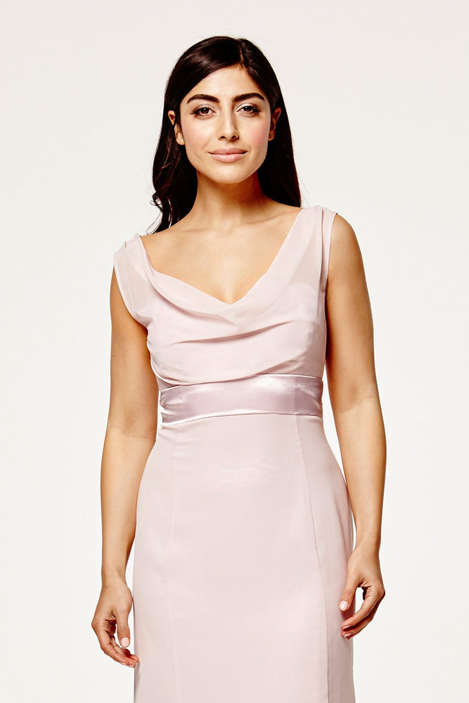 Penelope Fitted Blossom Pink Occasion Dress (Front zoom)