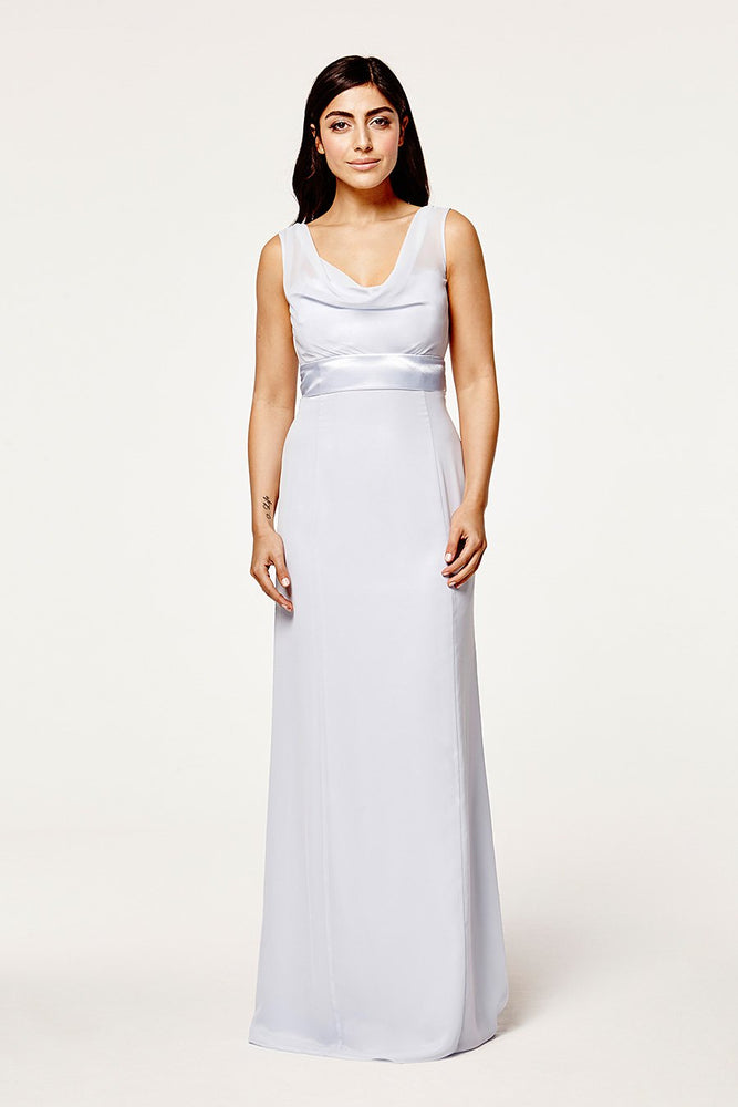 Penelope Fitted Cloud Blue Occasion Dress (Front)