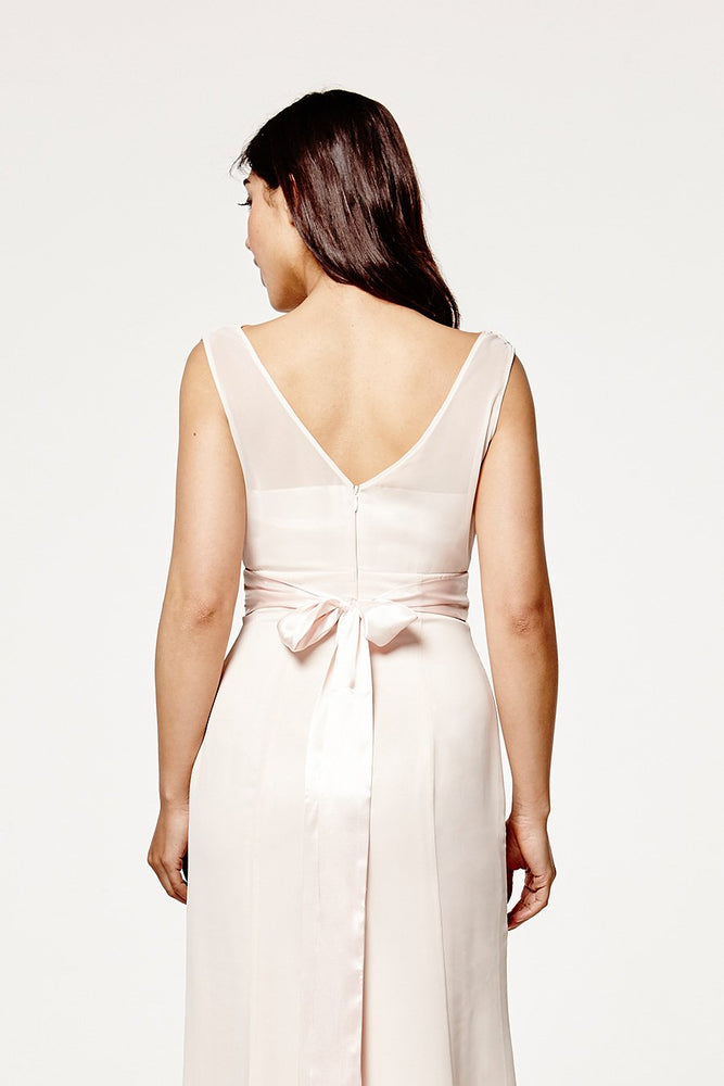Penelope Fitted Cream Soda Occasion Dress (Back zoom)