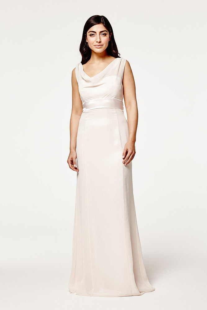 Penelope Fitted Cream Soda Occasion Dress (Front)