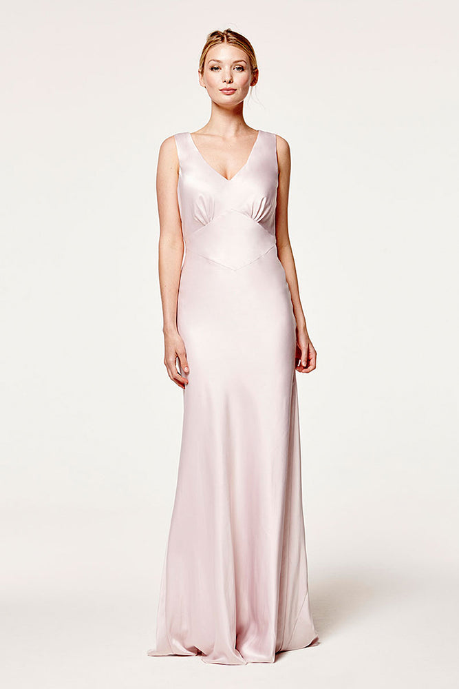 Peony Blossom Pink Bridesmaids Dress (Front)