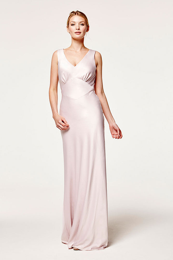Peony Blossom Pink Bridesmaids Dress (Front Two)